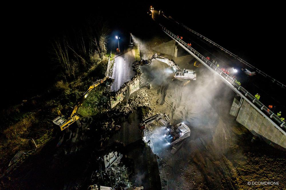 Prise de vue par drone de nuit DCOMDRONE