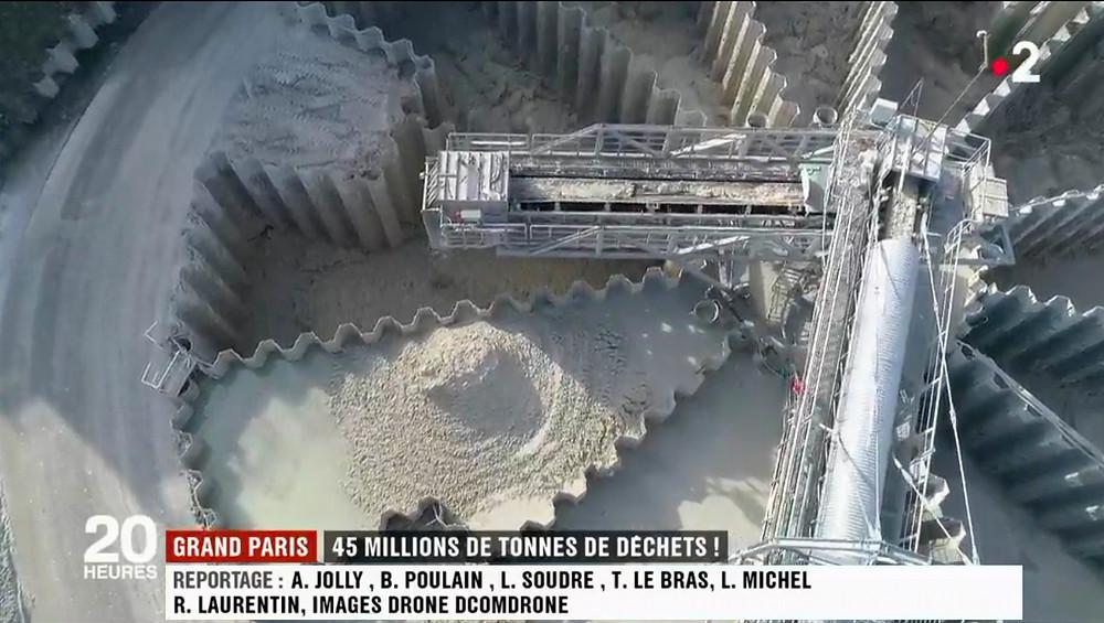 Reportage d'information Journal de 20 heures de France 2 - Images drone DCOMDRONE