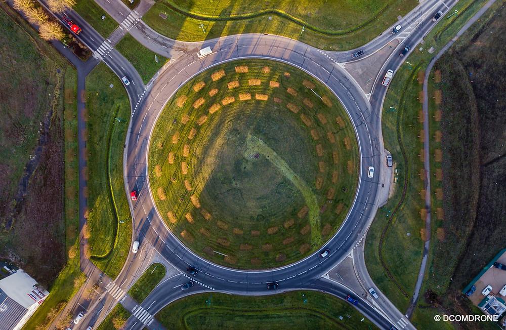 Photo par drone carrefour giratoire DCOMDRONE