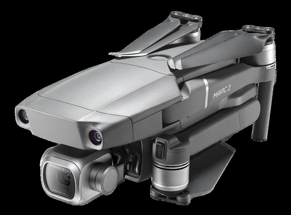 DRone DJI Mavic 2 Pro de DCOMDRONE avec les bras repliés