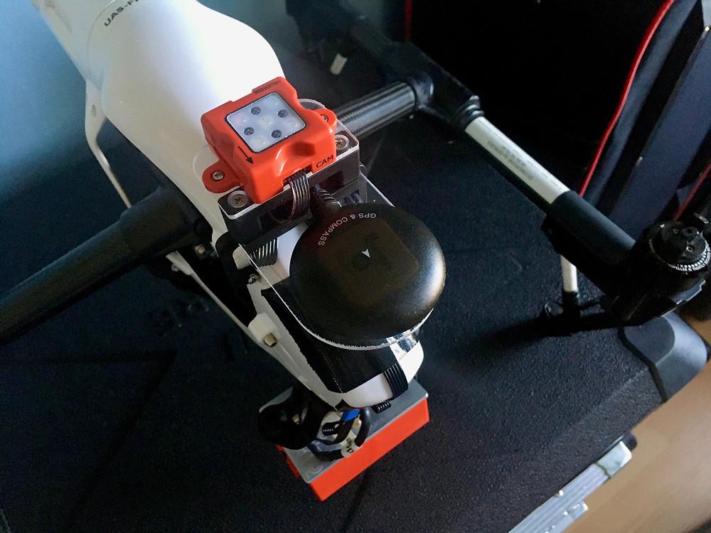 Caméra multi spectrale Micasense RedEdge M - Kit d'intégration sur drone DJI Inspire 1