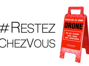 Tournages drone dans les villes confinées