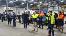 Tradies get stretching