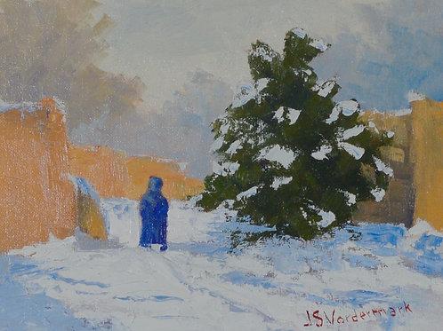 Blumenschein House Snowfall