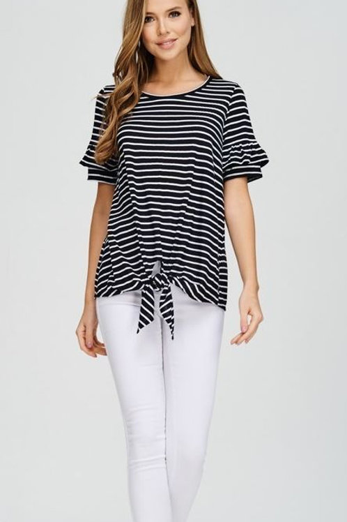 Striped - Black & White T-Shirt