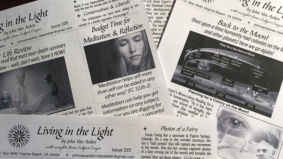 12 Newsletters  (Living in the Light)