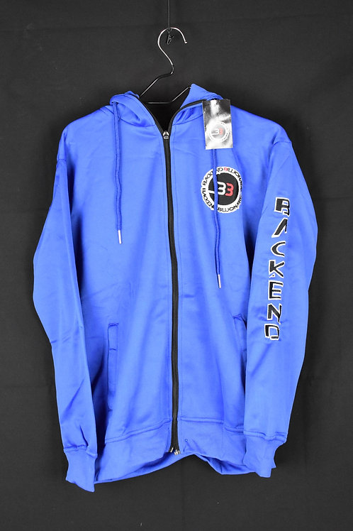 Blue Zipper Jumpsuit