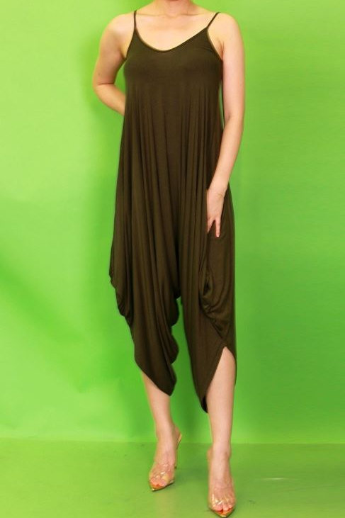 Over Sized Jumpsuit - Olive