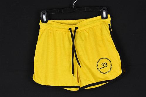Yellow Backend Shorts