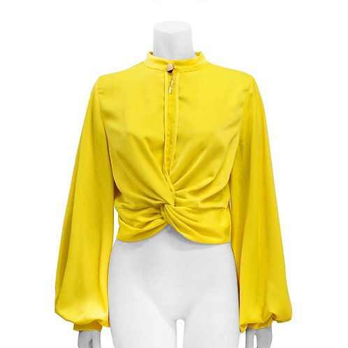 Plus Waist Tied Wide Sleeve Top