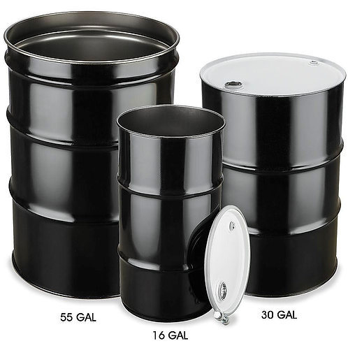 Unlined Steel Drums