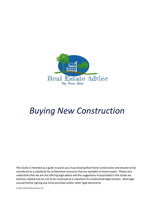 Buying a New Construction
