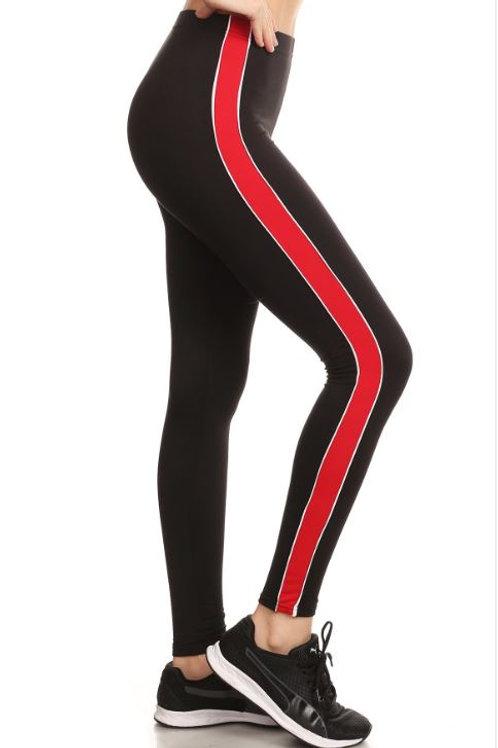 Black Jogging Pants - Red Stripe