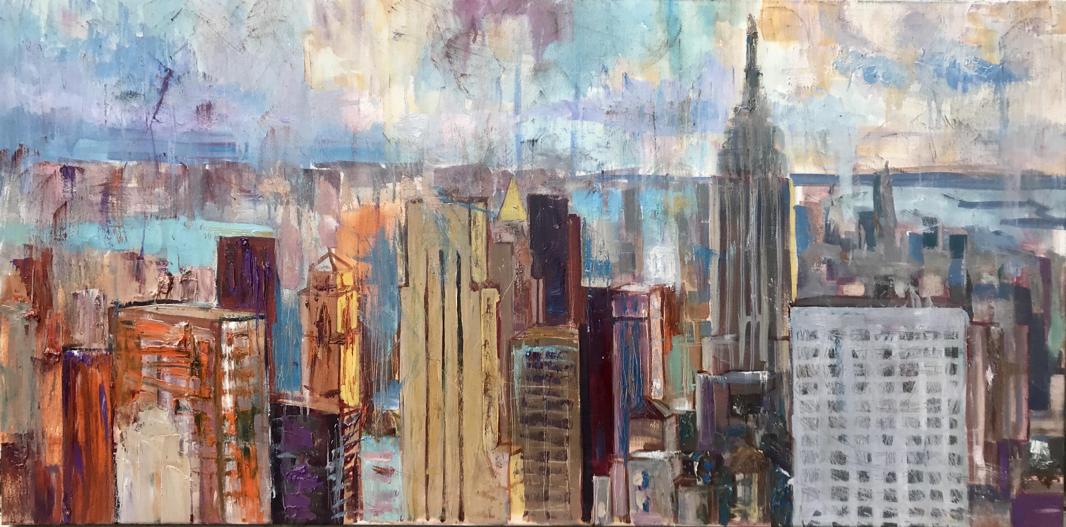 New York  150x80, oil,canvas