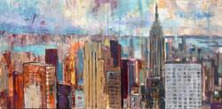 New York  150x80, oil,canvas
