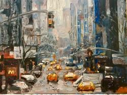 Street 5 ,30x20, oil, canvas ,2018-2