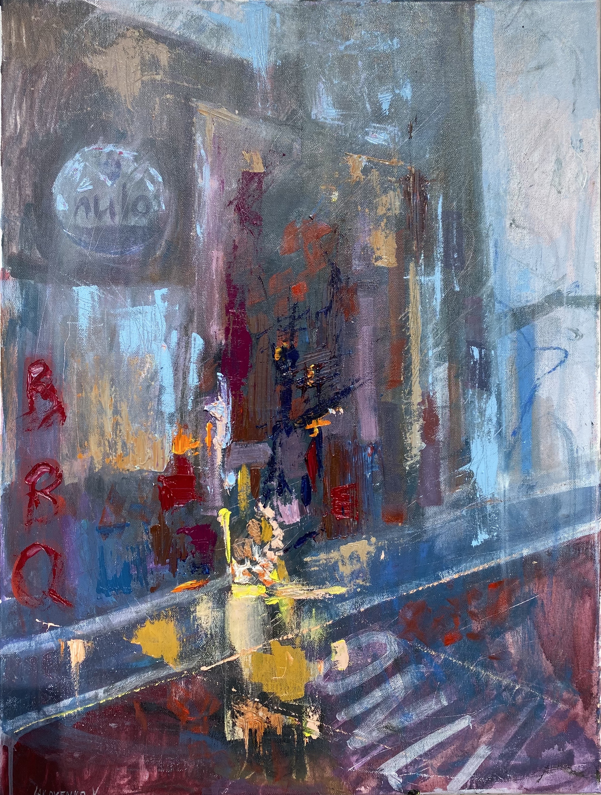 Street 10, oil, canvas ,2020