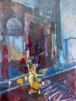 Street 10, oil, canvas ,2020