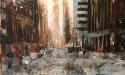 Street 2, 90x70 ,oil,canvas, 2018