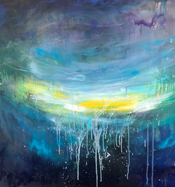 Blue  100x100 oil, canvas 2020