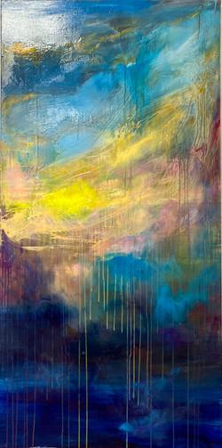 Sea 14, 140x70, oil, canvas 2021