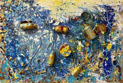ocean , 100x120 , oil, canvas 2020