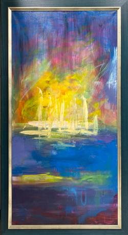 sea 12 , 140x70 ,oil, canvas 2020