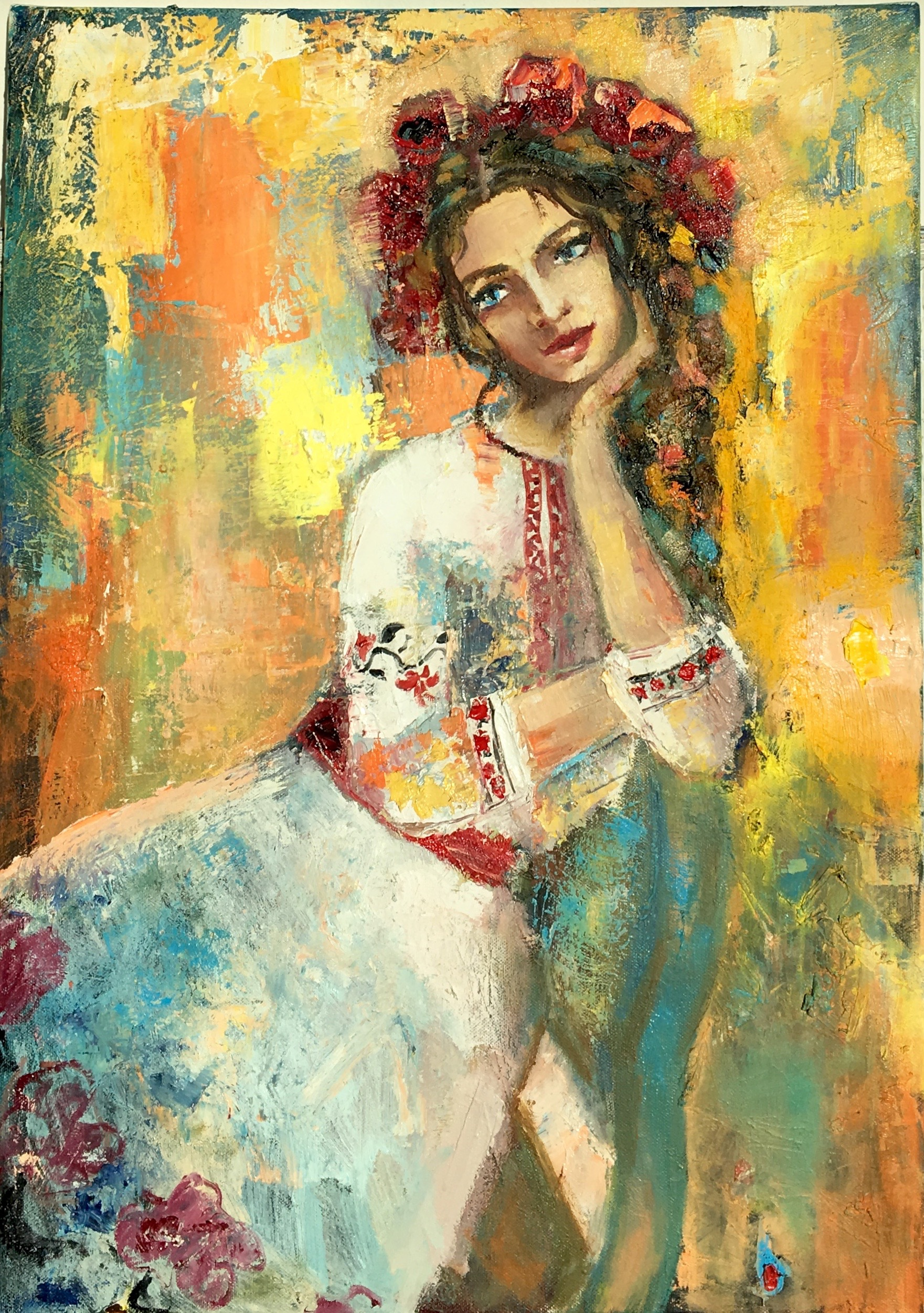 Ukrainiane 2 , 2016 , 70x50 oil