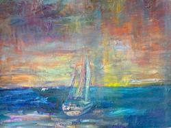 Sea 7, 50x65 ,2020 oil,canvas
