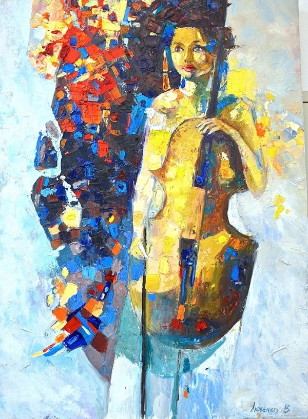 musician, 2015,100x70, oil, canvas