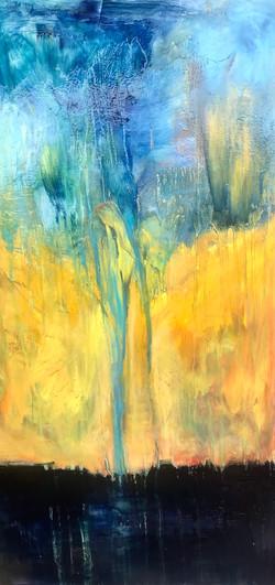 Sea 13, oil,canvas 140x70 2021