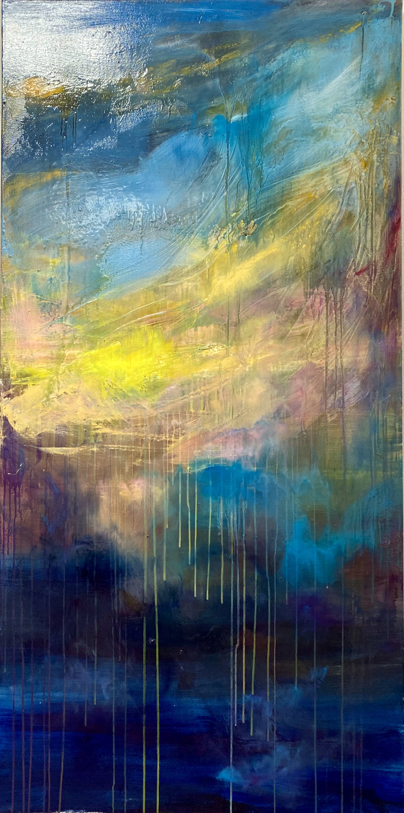 Sea 14, 140x70, oil, canvas 2021