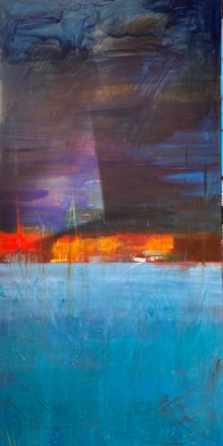 sea 6, 140x70 oil,canvas