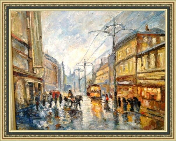 It is rainy, 50x60, 2012, oil,