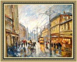 It is rainy, 50x60, 2012, oil,