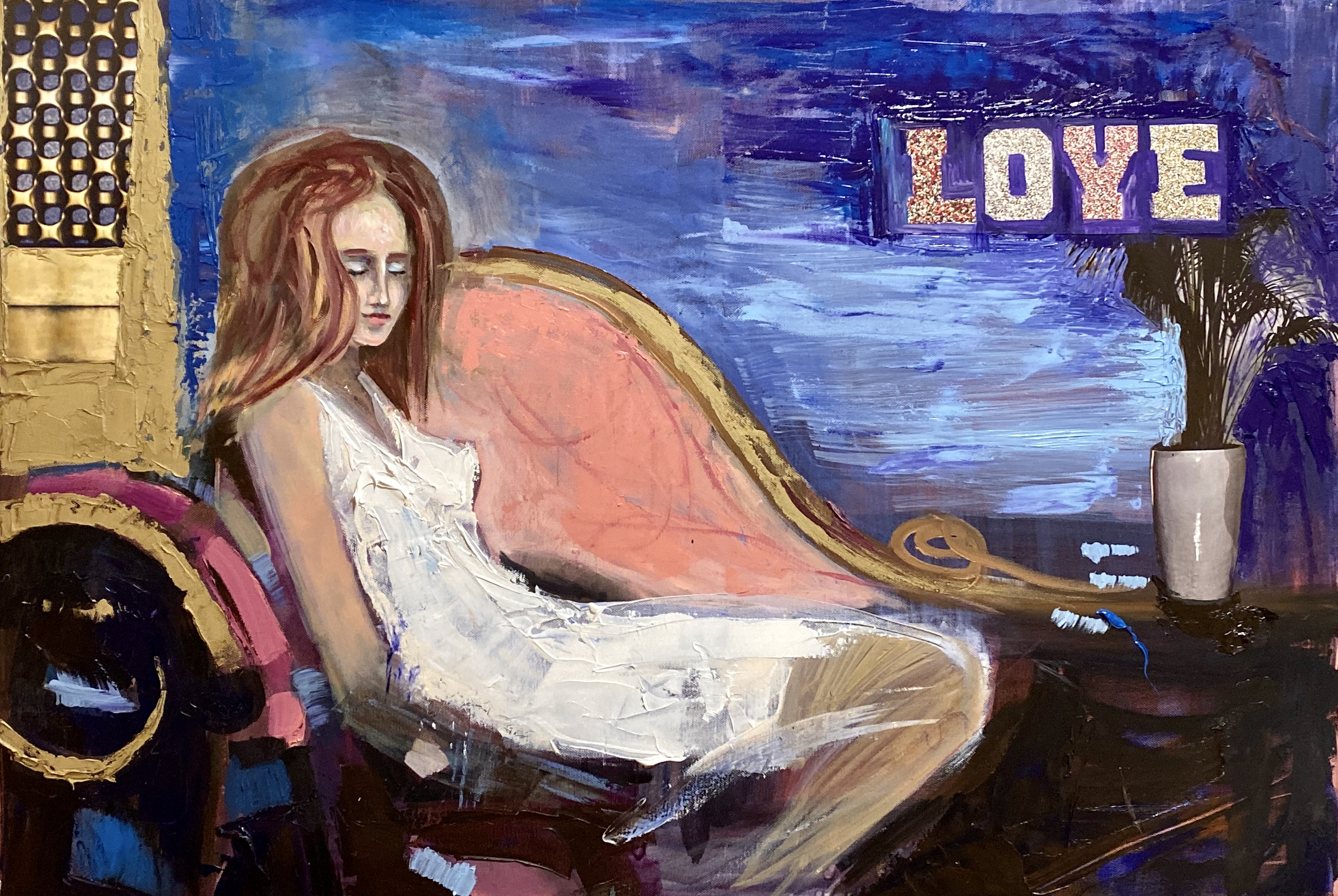 love , 2021, 70x100, oil,canvas