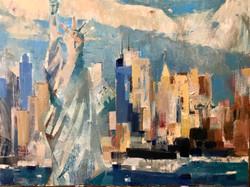 New York , oil, canvas , 70x60, 2018