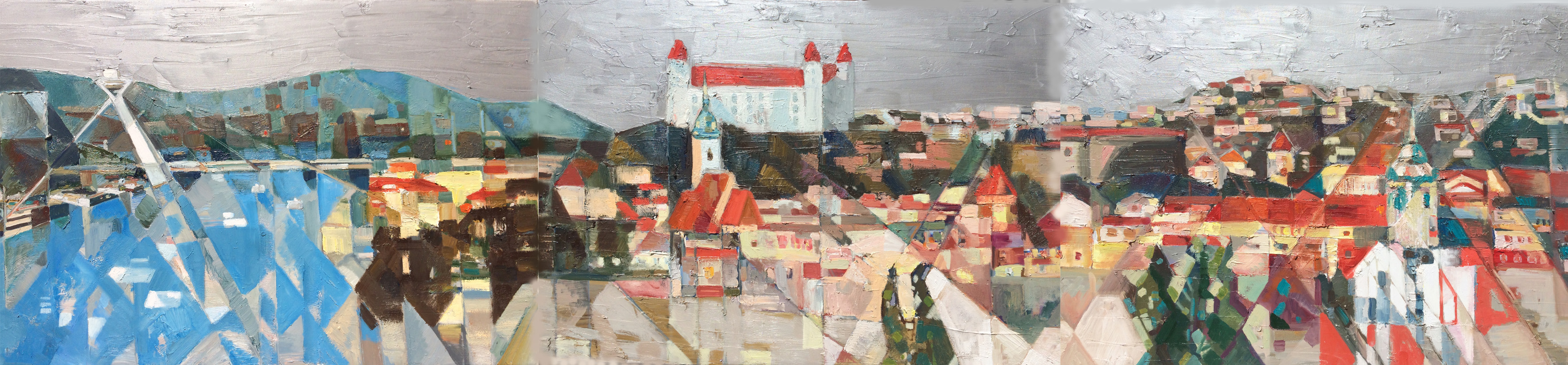 Old town ,2015 , 70x270