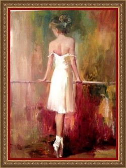 Ballerina, 70x50, 2013,oil, canvas