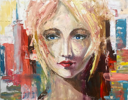 Girl in New York, 100x80, oil,canvas, 20