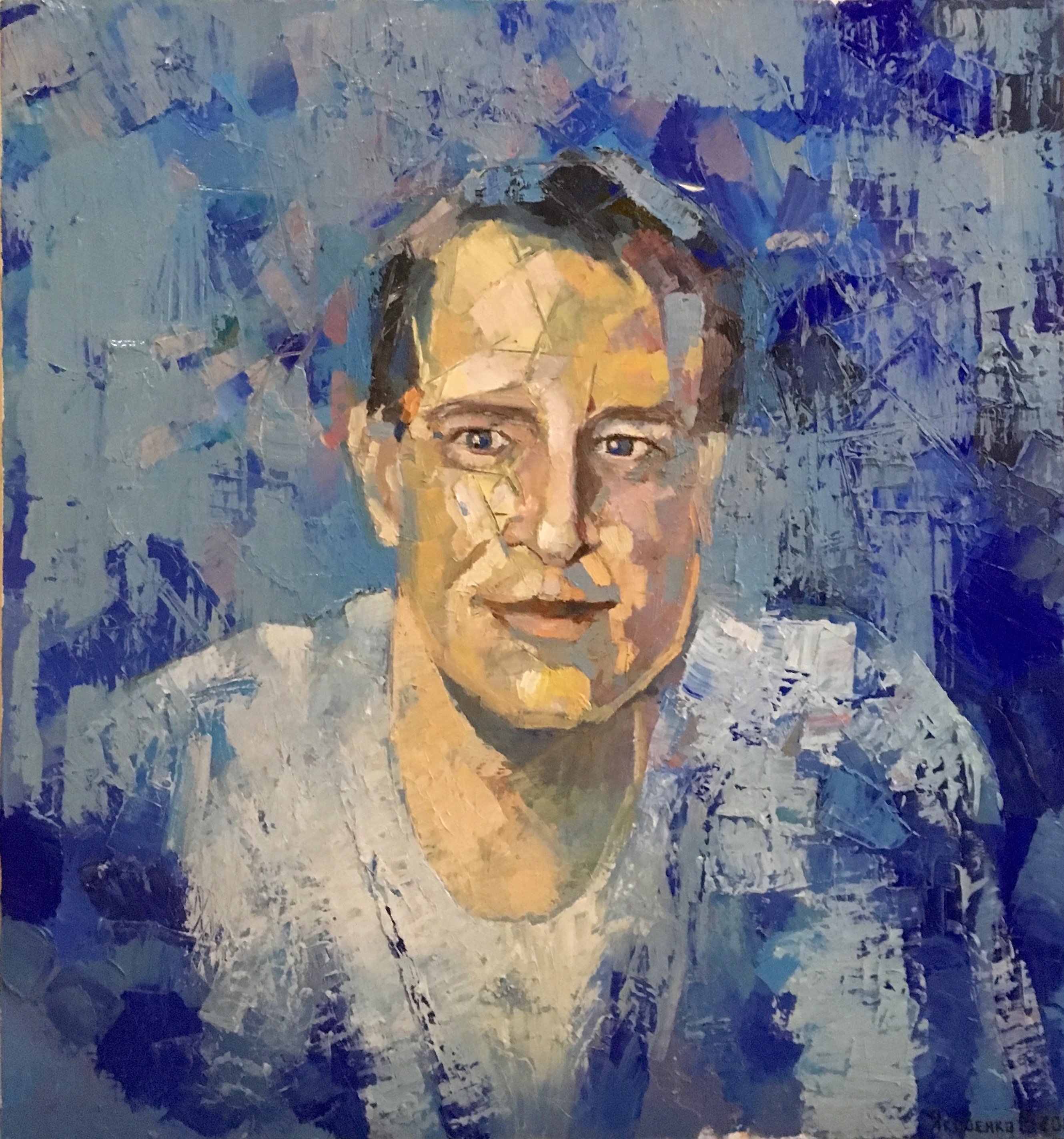 Portrait, 2016, 70x75, oil,canvas