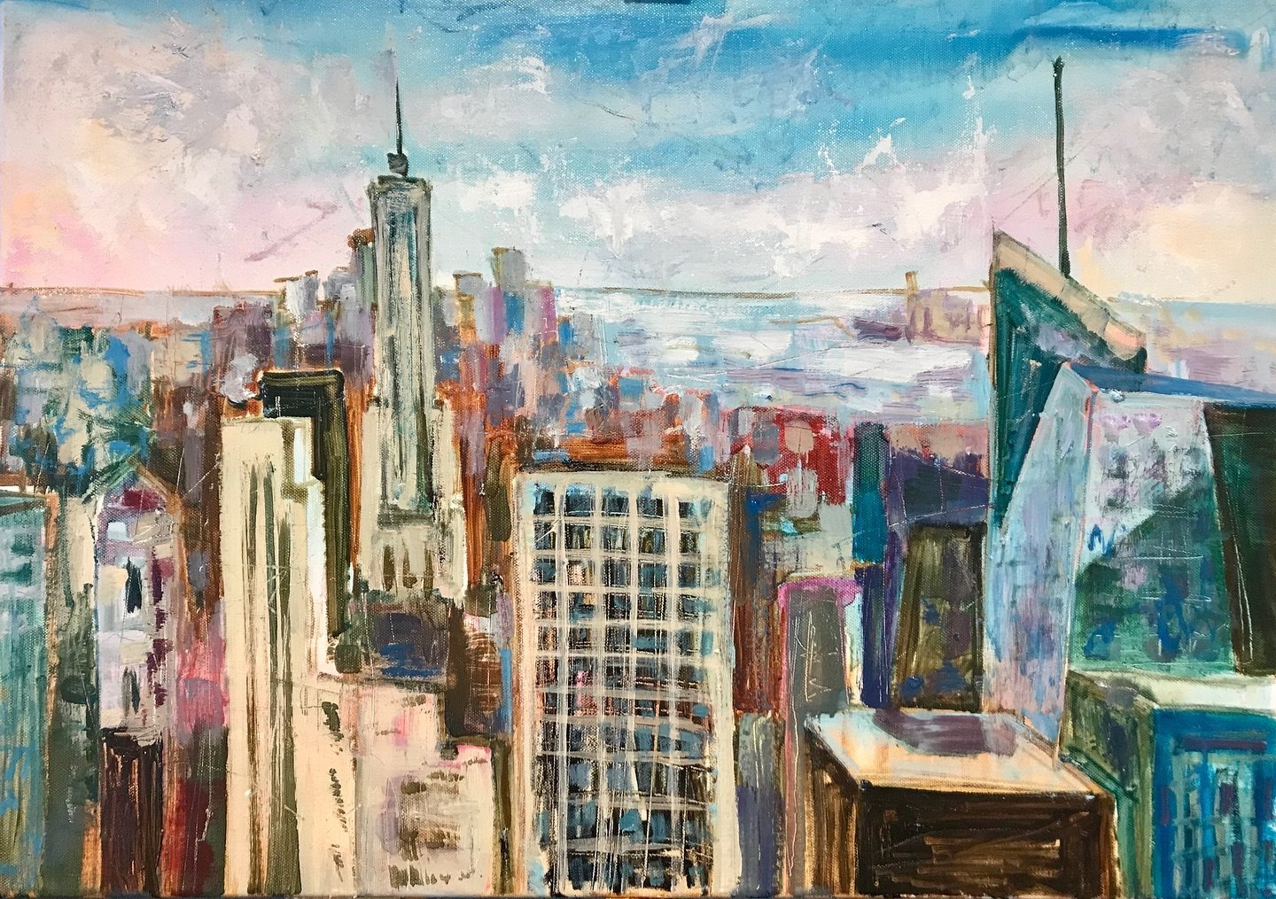 New York, oil, canvas, 2019