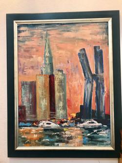 City, 80x60, oil, canvas