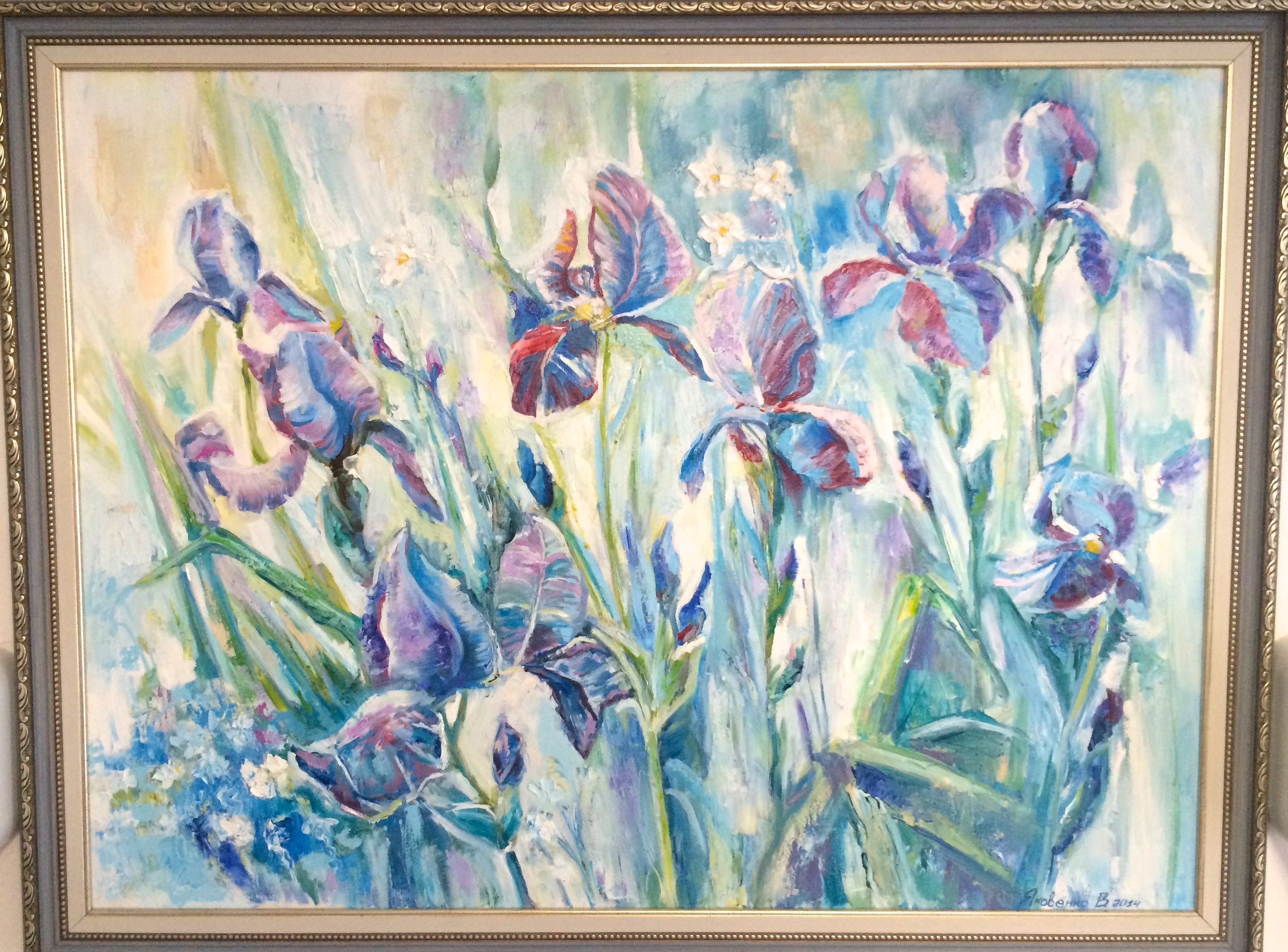 Irises ,2013, 100x80, oil,canvas