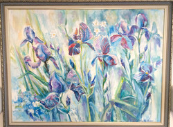 Irises ,2013, 100x80, oil,canvas