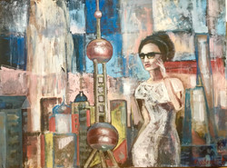 Girl in Shanghai , oil, canvas 60x50, 20