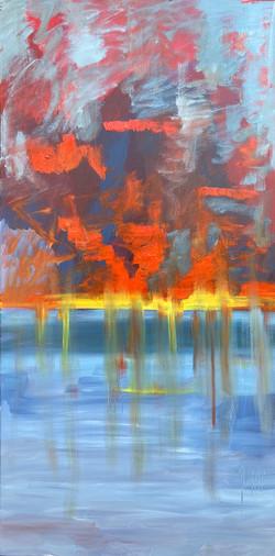 Sea 7, 140x70, oil,canvas 2020