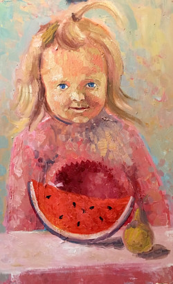 Water-melon, 2016, oil, canvas