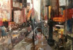 Street , 90x70, oil, canvas, 2018