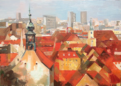 Old town 2 ,2015, 50x70, oil